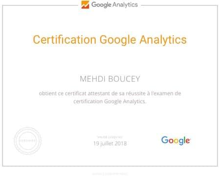 Certification Google Analytics